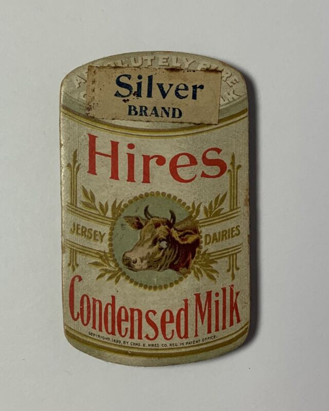 Antique HIRES CONDENSED MILK Advertising PIN HOLDER Sewing 1899