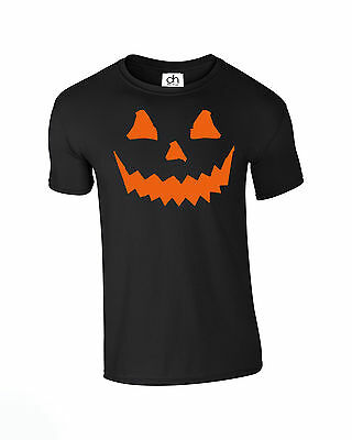 HALLOWEEN PUMPKIN T-Shirt Geschenkidee Party Kostüm Horror (Pumpkin, T-Shirt)