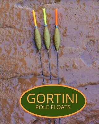 3 no. Hand made GORTINI 4x12 NiTi Ultra wire stem pole float handmade floats set