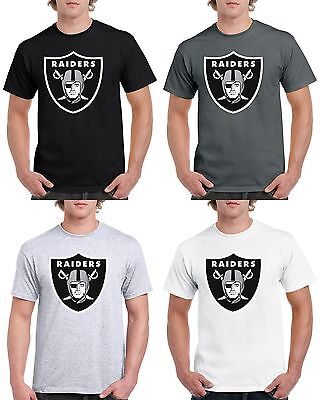 Oakland Raiders T Shirt Las Vegas Graphic Cotton Men Adult Jersey Shield Logo