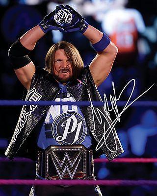 AJ STYLES #1 (WWE) - 10x8 PRE PRINTED LAB QUALITY PHOTO (SIGNED) (REPRINT)