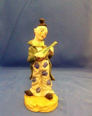 FBIA Ceramic Circus Clown Playing A Mandoline