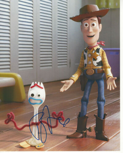 TONY HALE SIGNED AUTHENTIC 'TOY STORY 4' FORKY 8X10 PHOTO ACTOR 2 w/COA
