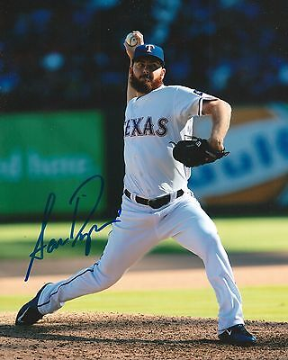 SAM DYSON signed 8x10 photo TEXAS RANGERS WITH COA B