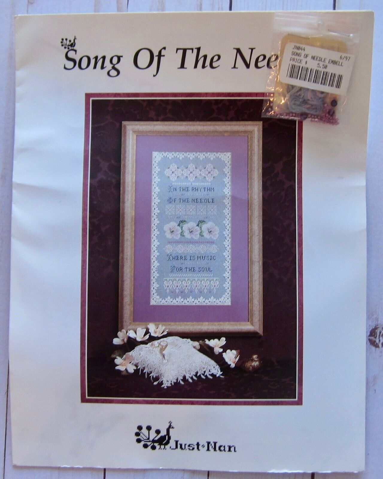 Song of the Needle Cross Stitch Pattern with Embellishment P