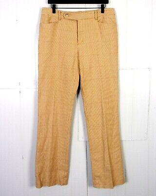 Baumwolle Gewebte Hose (EUC Ralph Lauren Adelle Beige Braun Barleycorn Gewebt Baumwolle Stretch Hose)