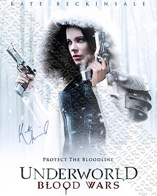 Reprint 8X10 Signed Autograph Photo Kate Beckinsale Underworld Blood Wars Poster