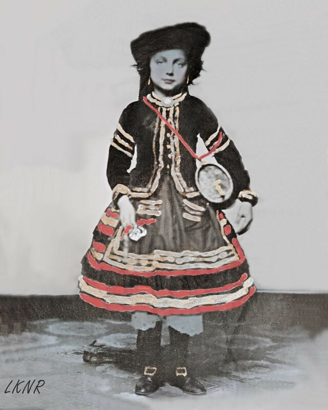 8 by 10 Civil War Photo Print Small girl Dressed as a Vivandiere