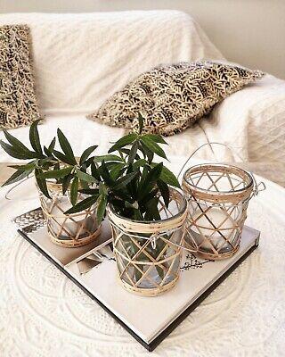 IB Laursen Glas Vase Windlicht Kerzenleuchter Becher Ethno Style Boho Stoltz