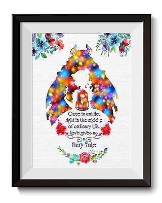 Beauty And The Beast Decor (Beauty and The Beast Beauty Princess Belle Art Print Nursery Wall Decor)