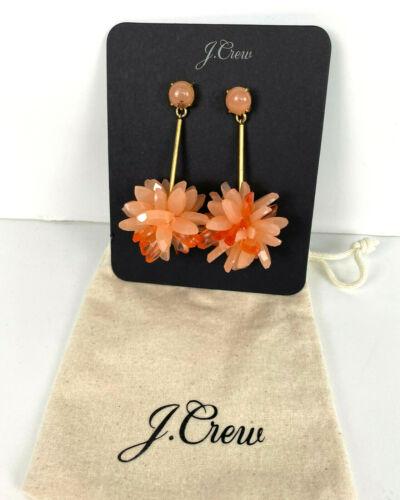 NWT Authentic J Crew Lucite Petal Drop earrings Peach Item H0211