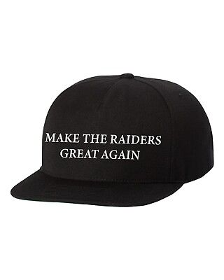 Make Raiders Great Again Custom Snapback Hat New-Black ](Custom Raiders Hat)