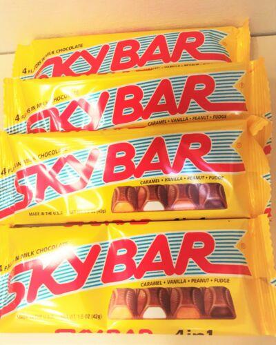 "SKYBARS"" NEW FRESH"" 4 CANDY BARS"