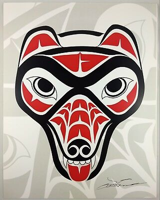 Grizzly Bear Lon French Signed Print Haida Northwest Coast Native Art for sale  Surrey