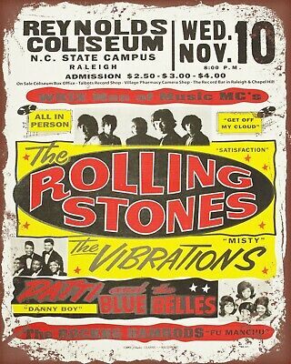 THE ROLLING STONES MIKE JAGGAR METAL MUSIC CONCERT POSTER PLAQUE TIN SIGN 1187