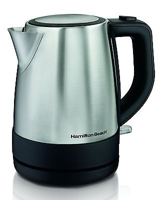 Hamilton Beach Stainless Steel Electric Kettle 1 L Silver Ho