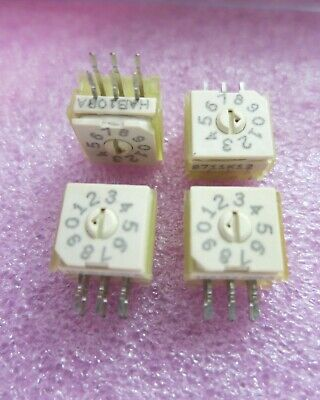 Brand New 4 Grayhill Rotary Bcd Dip Switch Right Angle 94hab10ra Us Stock