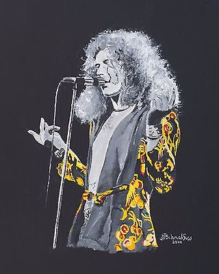 'Robert Plant, Stairway to Heaven' Acrylic Painting on Canvas ()