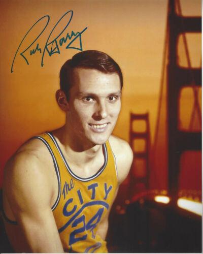Golden State Warriors HOF'er Rick Barry autographed 8x10 color photo by Bridge