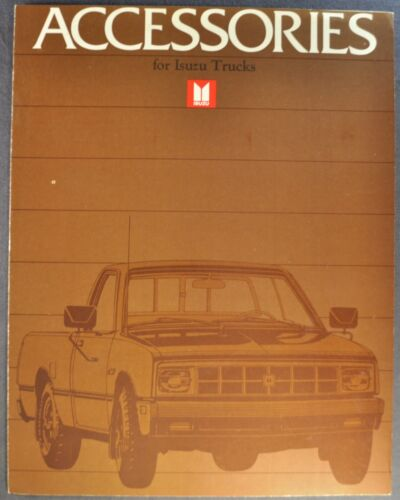 1984 Isuzu Pickup Truck Accessories Brochure Pup Gas Diesel Excellent Original