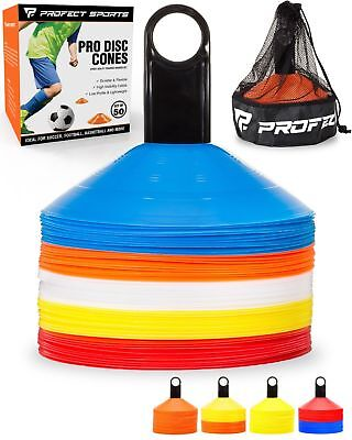 50 Multi-color Disc Cone Soccer Football Field Training Equipment Team Sport