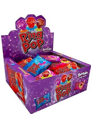 Bazooka Ring Pops Candy Kids Sweets Full Box Of 24