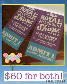 FOR SALE: Royal Melbourne Show tickets $30 each! (4 x available)