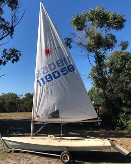 Laser Sailing Yacht