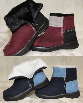 Kleinkinder Stiefel Blau oder Weinrot Gr. 20 21 22