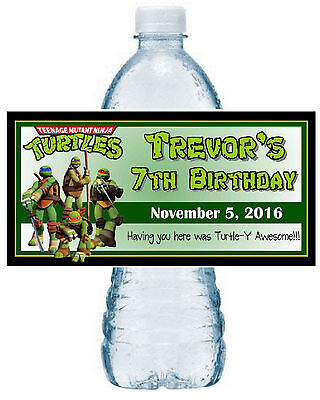 20 ~ TMNT NINJA TURTLES BIRTHDAY PARTY FAVORS WATER BOTTLE LABELS - Tmnt Birthday Party
