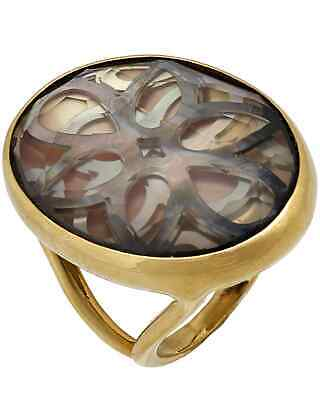 Ippolita Polished Rock Candy 18k Yellow Gold Quartz And MoP Ring MSRP $3495
