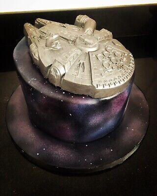 Star Wars Millennium Falcon Chocolate Cake Topper Edible Decoration Large