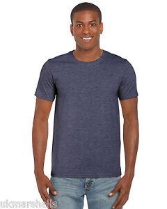 BULK BUYER Gildan Softstyle Plain Mens T Shirt 100% Cotton 30 Colours 36 - 52