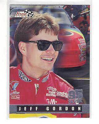 (1995 Finish Line Silver Parallel Card # 105 - Jeff Gordon)