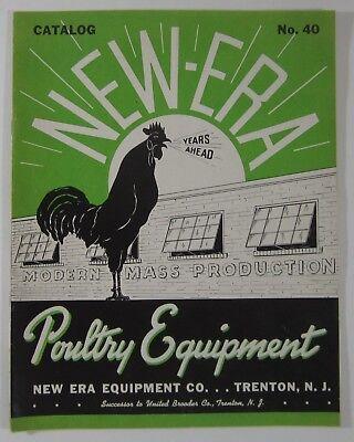 Vintage Raising Chickens Egg Hens New Era Poultry Equipment Catalog Trenton Nj