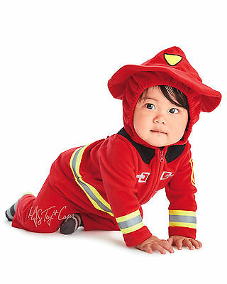 NWT Carter's Little Firefighter Cozy Soft Halloween Costume Size 3-6Mo./ 12Month - 3 6 Month Halloween Costumes