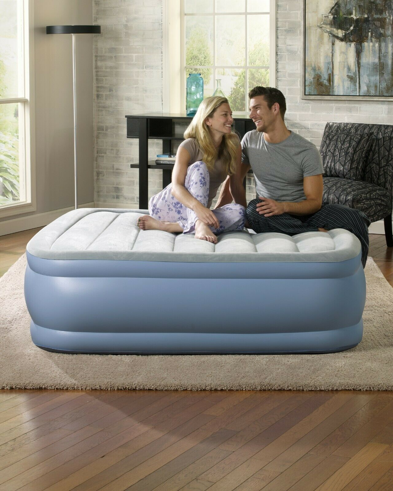 Portable Air Bed Comfortable Camping Sleeping Adjustable Inf