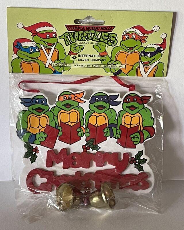 NOS New in Package 1990 Teenage Mutant Ninja Turtles Christmas Ornament