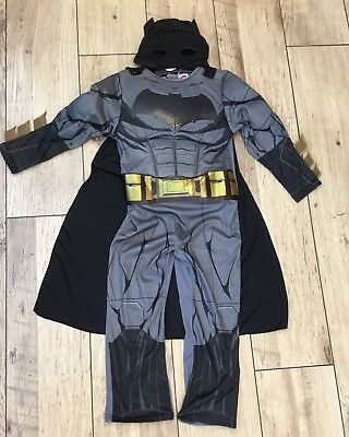 Boys With Muscles (Boys Batman Justice Of League Costume Dress With Muscles Cape Mask Age 7/8)