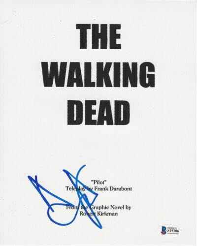 ANDREW LINCOLN SIGNED  THE WALKING DEAD RICK SCRIPT 8x10 PHOTO BECKETT BAS COA