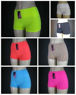 (Ladies Secure Spandex Yoga Pilates Beach Gym Fitness Running Hi-Waist Boy Shorts)