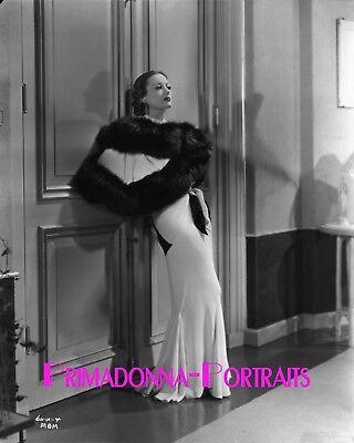 Joan Crawford 8X10 Lab B W Photo 1932 By George Eastman Fur Haunting Rare