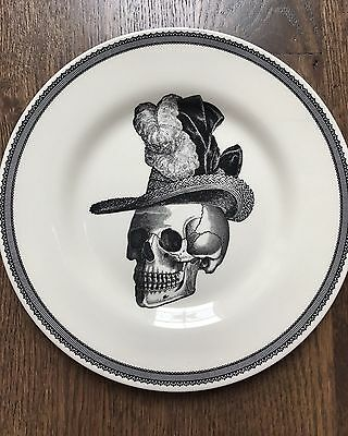 NEW HALLOWEEN Skull Plates (4): Salad/Dessert/Decoration/Dining/Holiday/Gift