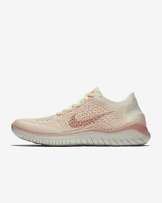 Wmns Nike Free RN Flyknit 2018 UK 7.5 EUR 42 Guava Ice Particle Beige Sail New