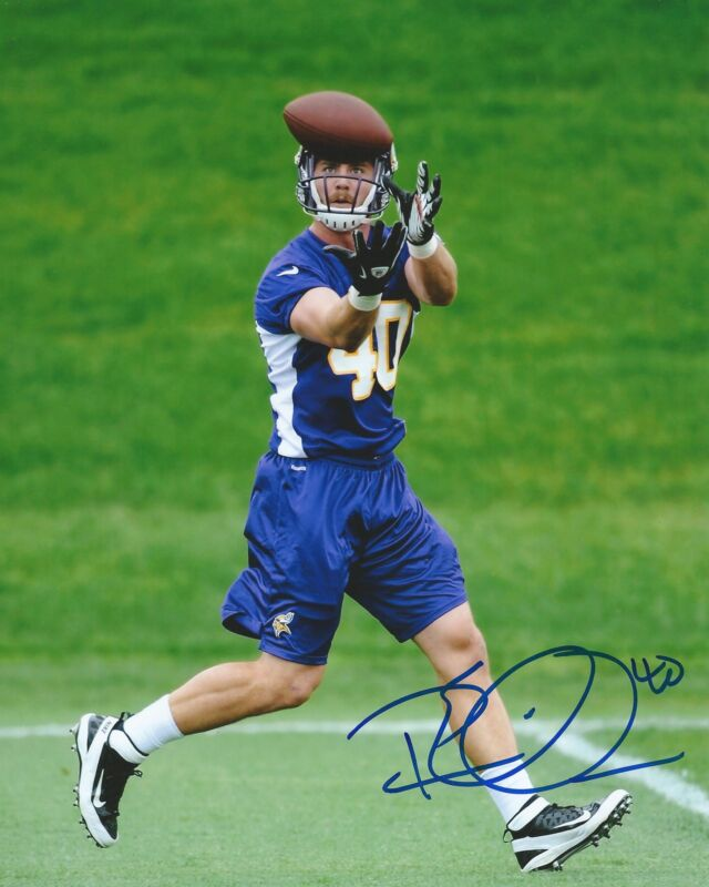 **GFA Minnesota Vikings *RHETT ELLISON* Signed 8x10 Photo R4 COA**