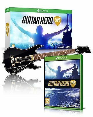 NEW XBOX ONE Guitar Hero Live Wireless GUITAR CONTROLLER Single Bundle WITH GAME