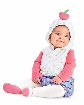 NEW NWT Girls Carter's Halloween 3 Piece Set Cupcake 24 Months Costume (3 Month Halloween Costume)