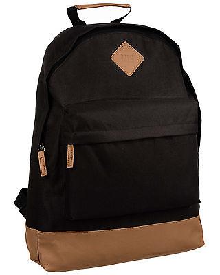 NEW Mens & Boys Black Backpack Rucksack Bag - SPORT SCHOOL TRAVEL 214 BORDERLINE