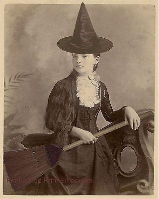 Victorian Witch Art Print 8 x 10 - Altered Art - Halloween - Goth - Wicca Wiccan - Halloween Goth Art