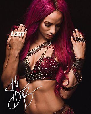 SASHA BANKS #3 (WWE) - 10x8 PRE PRINTED LAB QUALITY PHOTO (SIGNED) (REPRINT)